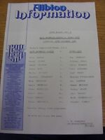 10/11/1984 Colour Teamsheet: West Bromwich Albion v Stoke City (folded). Trusted