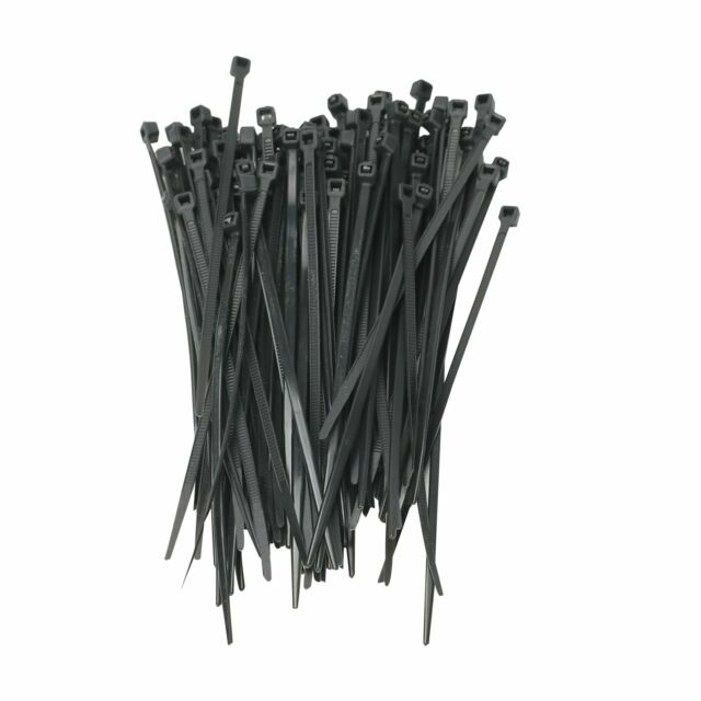 "500 PACK 8 INCH BLACK NYLON UV WEATHER RESISTANT ZIP TIE WIRE CABLE 8/"" 50 LBS"