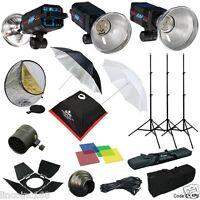 1050W Strobe Studio Flash Light Kit Lighting Set Photography CK106