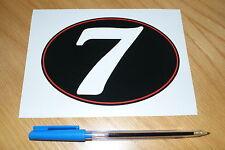Number 7 Retro Race Number - Medium