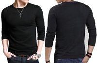 New Men fashion Cotton Round -Neck M L XL XXL  Long Sleeve Casual T-Shirt  Tops