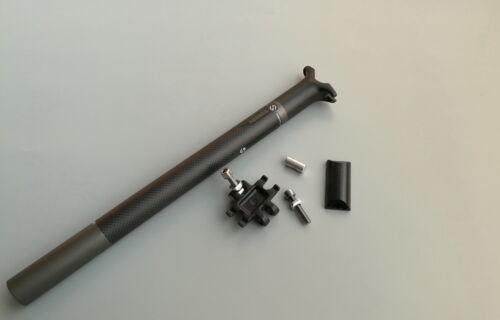 TOSEEK Carbon Aluminium seatpost 27.2 Length 350mm 207g Road bike seatpost Matte