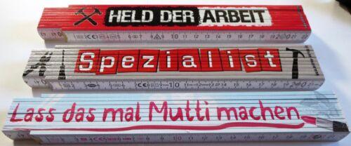 Zollstock lustige Sprüche Geschenk Heimwerker Spezialist Helden Spezialist Mutti