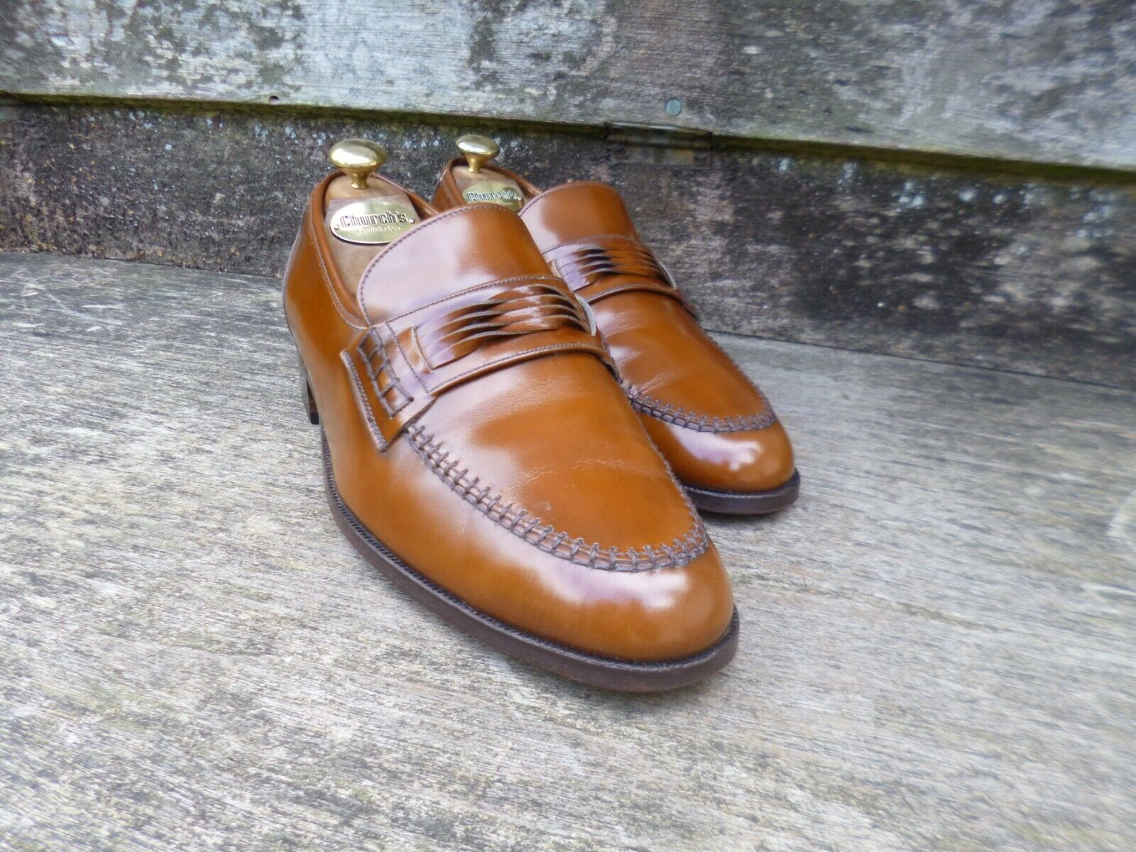 CHEANEY   CHURCH LOAFERS – braun   TAN  – UK 8 – WALTON - EXCELLENT CONDITION  | Erlesene Materialien
