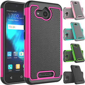 Details about For Alcatel Tetra / 5041C Case Dual Layer Hybrid Rubber  Plastic Shockproof Cover