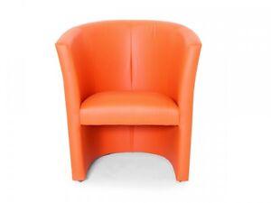 das bild wird geladen cocktailsessel polstersessel charly esszimmer stuhl sessel kunstleder orange - Esszimmer Orange
