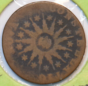 1785-Nova-Constellatio-Pointed-Rays-Colonial-Copper-Coin-N0216-combine-shippin
