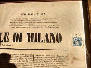 Lombardo-veneto-3c-II-tipo-su-giornale-del-1855