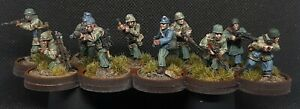 Pro-Painted-28mm-10-man-Fallschirmjager-Squad-ww2-Bolt-Action-Chain-Of-Command