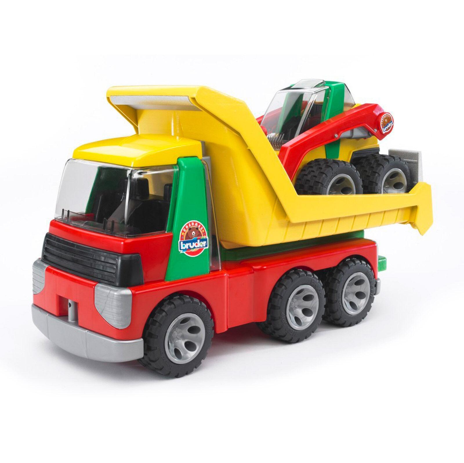 BRUDER Spielzeug Roadmax Transporter mit Kompaktlader LKW Spielzeugauto / 20070