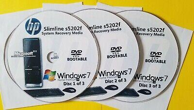 Windows 7 Home Premium 64-Bit HP Pavilion Slimline s5610y 500GB Hard Drive