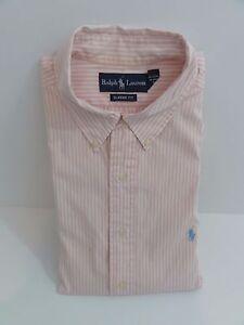 Image is loading Vintage-Polo-Ralph-Lauren-Pink-White-Pinstripe-Dress- 6d4c78d84966d