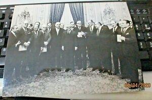 foto-originale-Presidente-G-LEONE-e-consiglio-ministri-governo-COLOMBO-1970