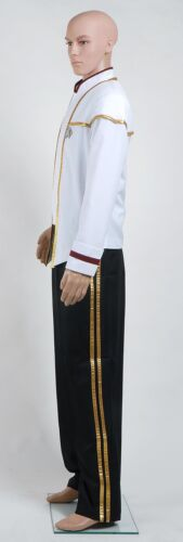 Star Trek Insurrection Nemesis Mess Dress Uniform Suits Cosplay Costume White