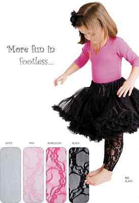 Country Kids Girls Lace Footless Tights