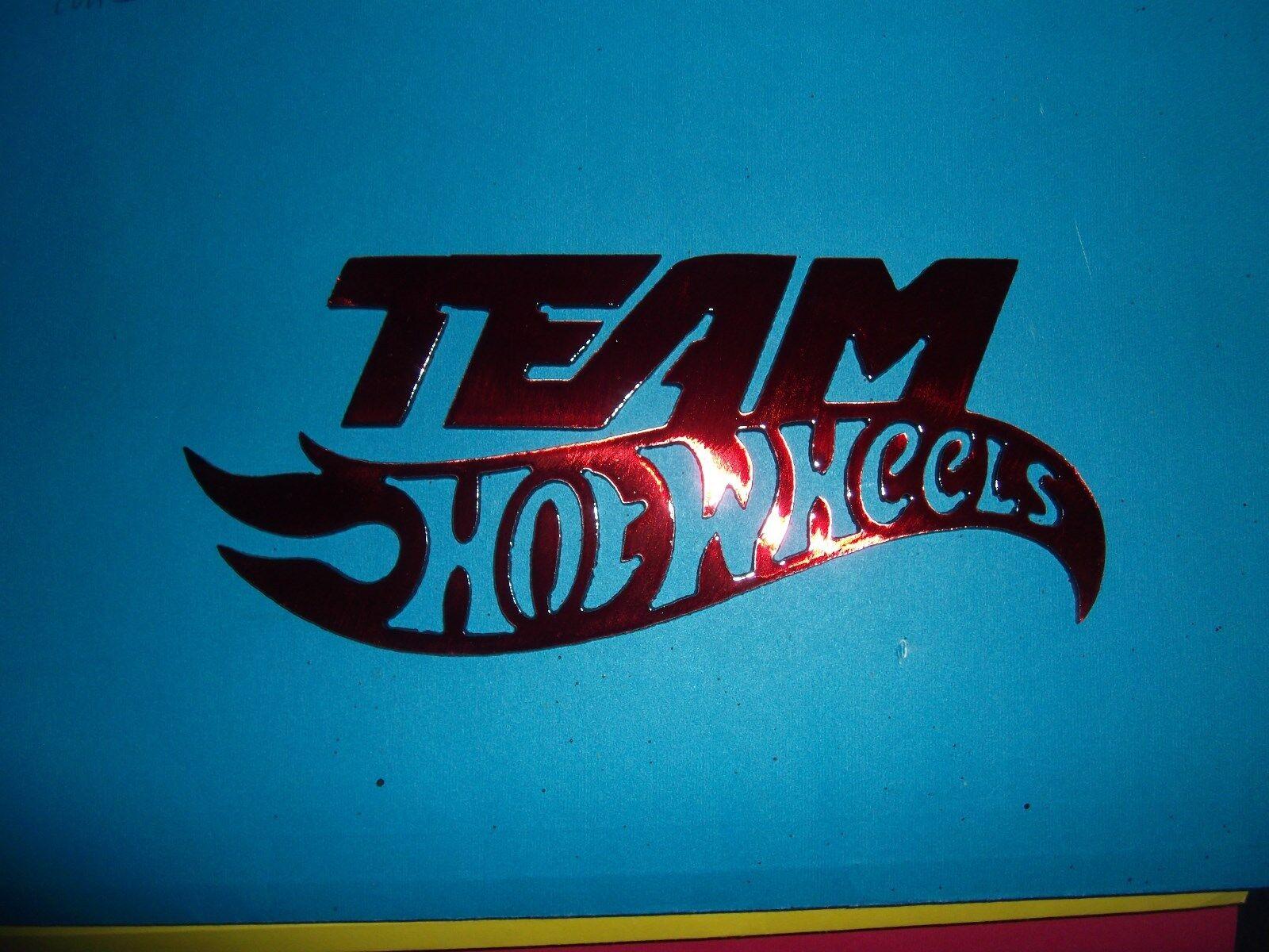 Man Cave On Wheels : Red kandy metal team hot wheels man cave garage wall decor