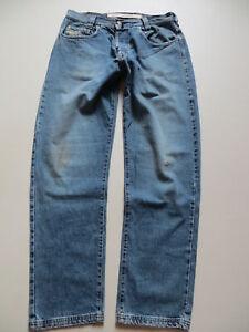 Diesel-Saddle-Jeans-Hose-W-34-L-34-USED-Silber-Sattel-weiter-Oberschenkel