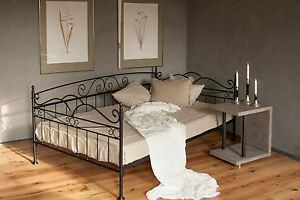 Vintage Trend Sofa Bett 140x200 In Schwarz Anthrazit Oder