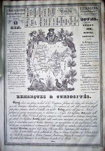 01 Carte Gravure De L'ain Atlas J. Henry 1835 (c39-5) Frissons Et Douleurs