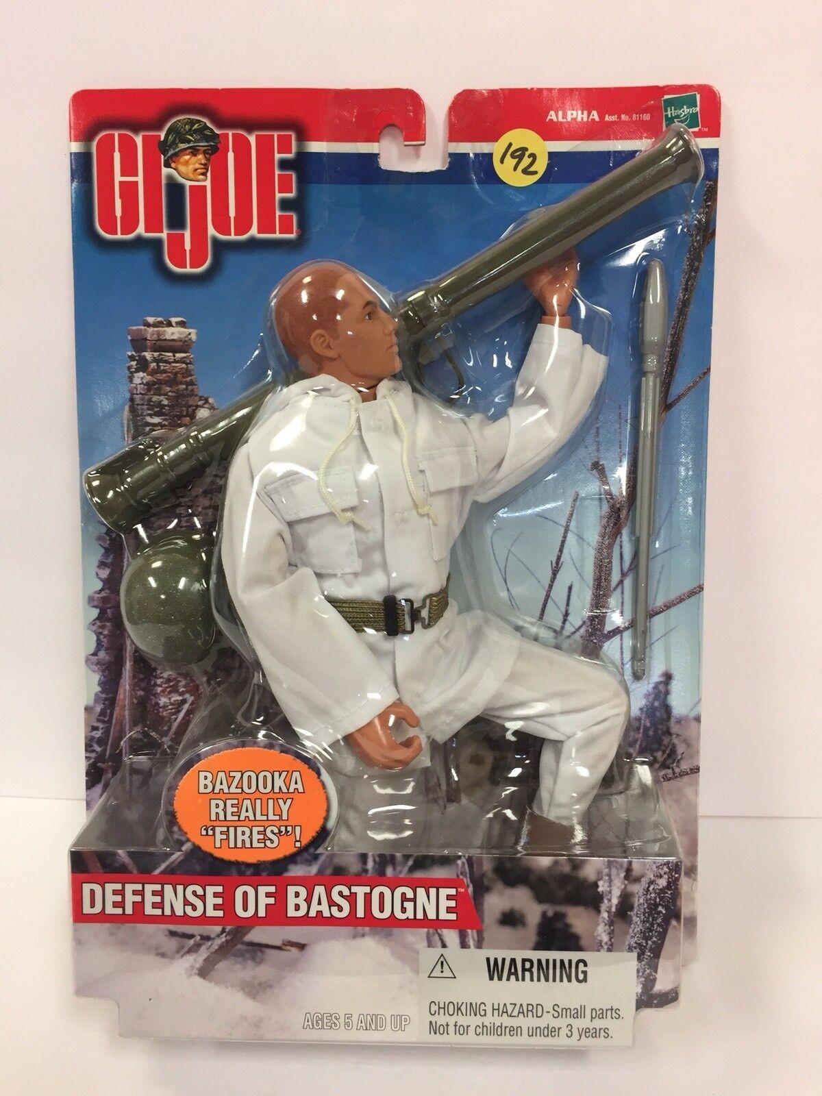 2000 Hasbro Hasbro Hasbro 12  GI JOE Defense of Bastogne Bazooka really  Fires  (7GI192) 620daf