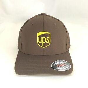 ups flexfit cap yupoong wool blend 6477 hat united parcel service