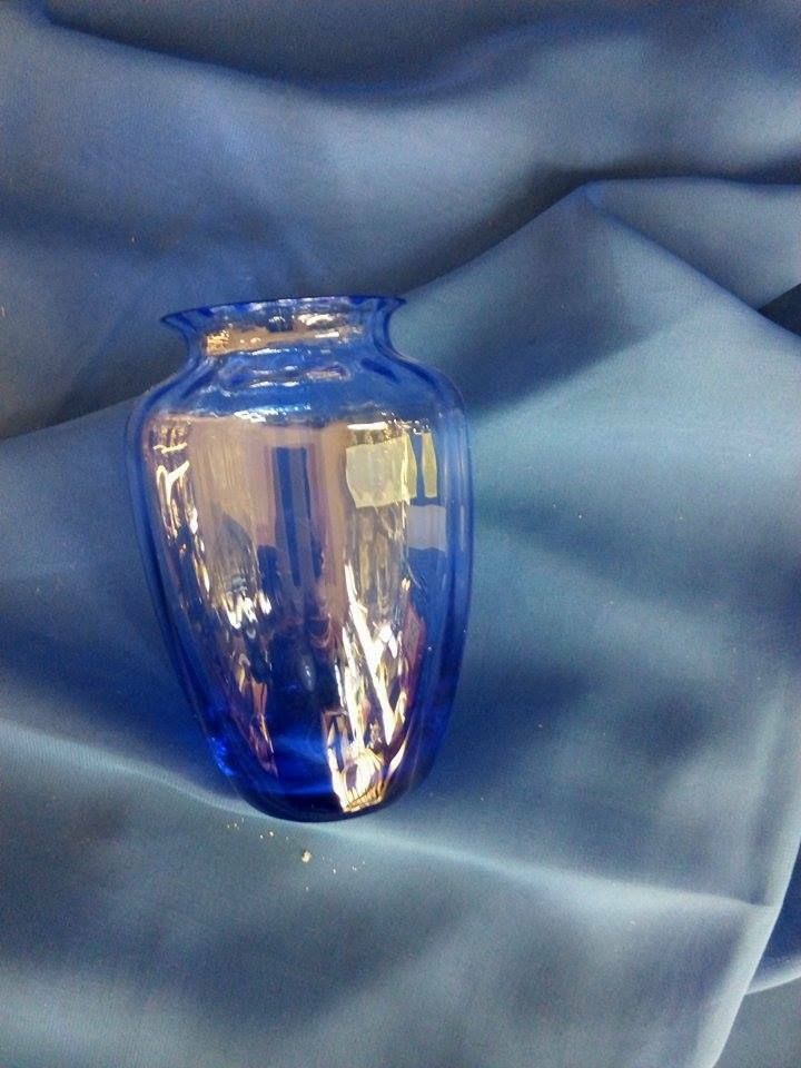 Baccarat Cristallo  Naiades  Vaso  blu h. 11cm