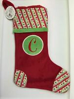 Ganz Christmas Stocking With Initial