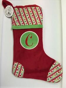 image is loading ganz christmas stocking with initial