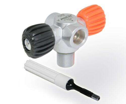 NAUTEC SLM/2 Ventil Air 230 zylindrisch mit gratis Mikrofilter Flaschenventil