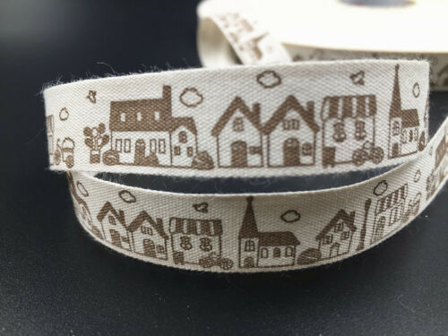 5-10y house Cotton Ribbon Hand Made Design Home Party Decor Sewing Craft 15mm