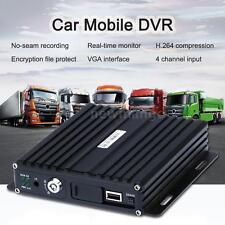 Realtime SD Card Auto Car Bus Mobile DVR 4CH Input Digital Video Recorder