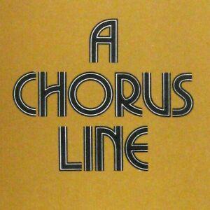 Details about Chorus Line Paper Mill Playhouse 1991 Program Michael Bennett  Musty Smell
