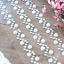 Crystal Flat-back Pearl Chevron Self Adhesive Pearl and Crystal Stickers