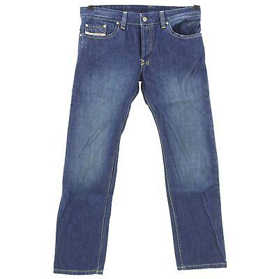 #4085 Diesel Jeans Uomo Pantaloni Kulter Denim Blue Stone Blu 34/32-mostra Il Titolo Originale Rafforza Tendini E Ossa