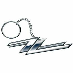 ZZ-Top-Twin-Zees-Logo-Schluesselanhaenger-Keychain-Official-Merchandise-NEU