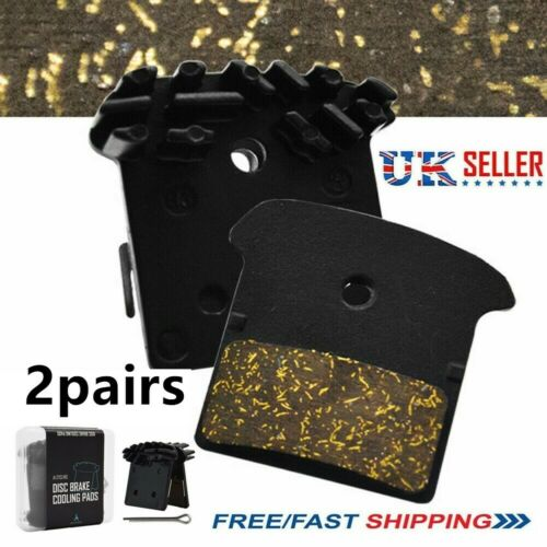 2pair For Shimano-J02A Resin Cooling Fin Ice Tech Disc Brake Pads SLX  XTR M8000
