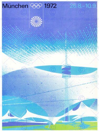 SPORT ADVERT 1972 OLYMPIC GAMES MUNICH GERMANY ART PRINT POSTERBB7405B