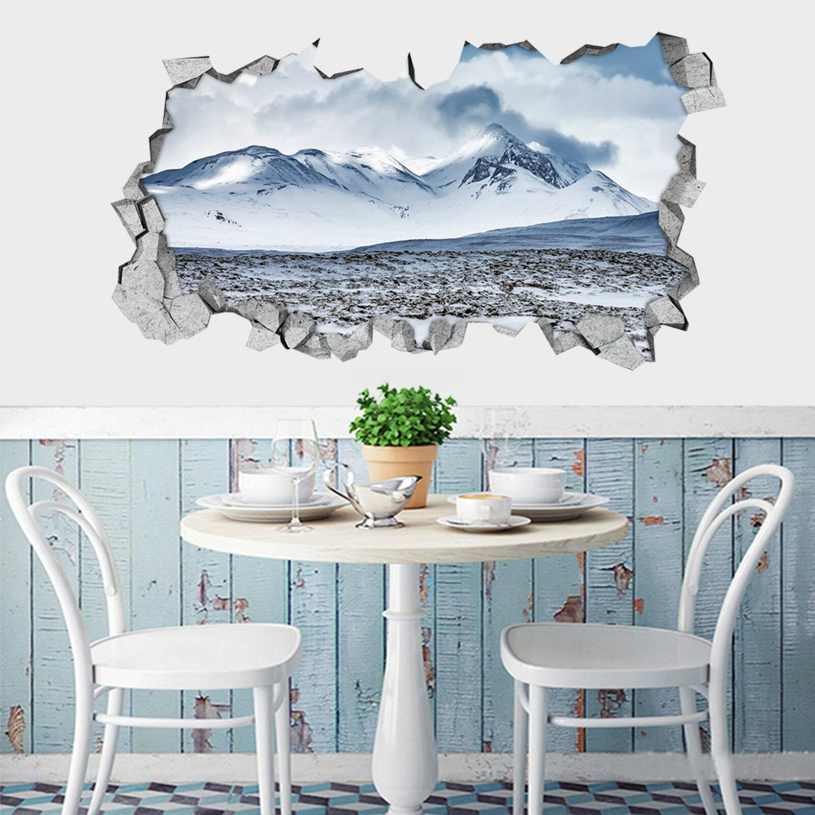 3D Schnee berg 666 Mauer Murals Aufklebe Decal Durchbruch AJ WALLPAPER DE Lemon