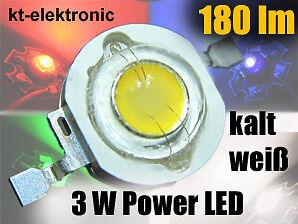 3 Stück Power LED Emitter 3W 700mA kalt weiß 180 lm 12000K