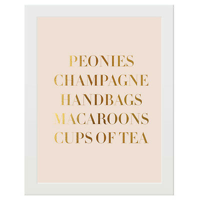 NEW Peonies, champagne gold foil print Women's by Elm Paper