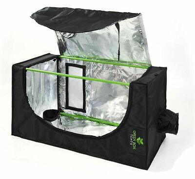 Lightproof Hydroponics Indoor Grow Tent Box 2-in-1 Propagation 600D Silver Mylar