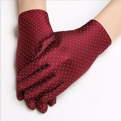 New Summer Drive Women Sun Protection Wrist Gloves Mittens Dot Elastic Charm