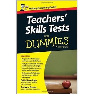 Teachers-Skills-Tests-For-Dummies-Beveridge-Colin-amp-Green-Andrew-Used-Good