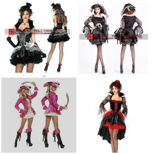 Lady Fancy Dress Pirate Deluxe Costume  Party Dress SIZE 8-10 UK Halloween Dress