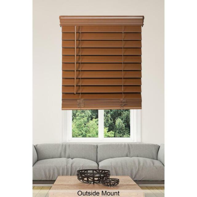 Home Decorators Collection Cut To Width Maple 2 5 In Premium Faux Wood Blind