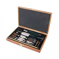 Brand Outers 28 Piece Universal Wood Gun Cleaning Kit With Wood Box Case