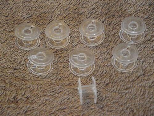BOBBINS 15K FLAT 8 X PLASTIC MACHINE SPOOLS
