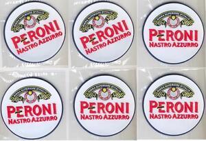PERONI 6 BEER BAR TOP SPILL MAT RUBBER COASTERS NEW   eBay