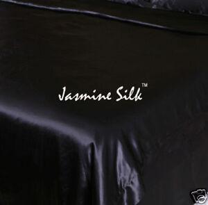 Jasmine-Silk-100-19-MM-Charmeuse-Silk-Duvet-Cover-Black-King