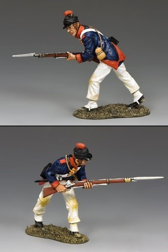 KING AND COUNTRY 9th Demi Brigade Advancing NE039 NE39 Painted Metal